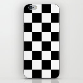 Large Checkered - White and Black iPhone Skin