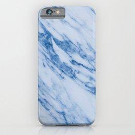Azure Blue Marble on Marshmallow Cream iPhone Case