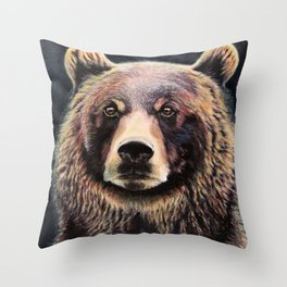 Smoky bear Throw Pillow