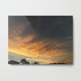 yellow/orange sky Metal Print
