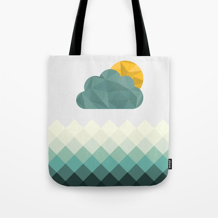 Sea Polygons Tote Bag