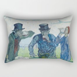 Vincent Van Gogh - The Drinkers Rectangular Pillow