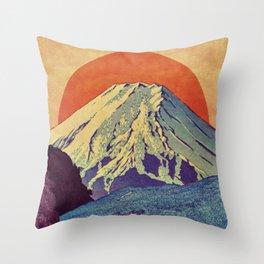 The Red Sunrise at Dayai Shore Throw Pillow
