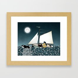 Sailing Buddies Framed Art Print