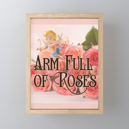 Arm Full of Roses Framed Mini Art Print