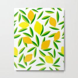 Pop Lemon & green Pattern #summervibes Metal Print