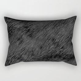 Realistic black bear fur background Rectangular Pillow