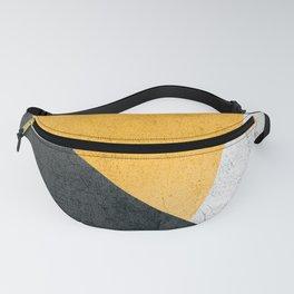 Modern Yellow & Black Geometric Fanny Pack