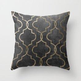Paris Apartment Black Throw Pillow