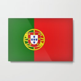 Flag of Portugal Metal Print