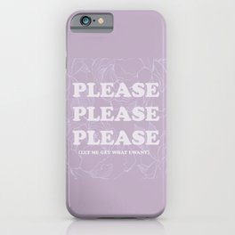 The Best of (Please, let me get what I want-The Smiths) iPhone Case