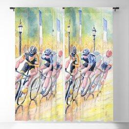 Colorful Bike Race Art Blackout Curtain
