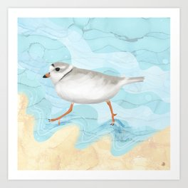 Piping Plover Running on the Beach Art Print