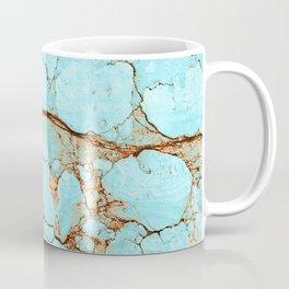 Rusty Cracked Turquoise Coffee Mug