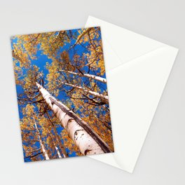 Aspen Trees Against The Sky In Crested Butte, Colorado Stationery Cards