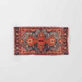 Kashan Poshti Central Persian Rug Print Hand & Bath Towel