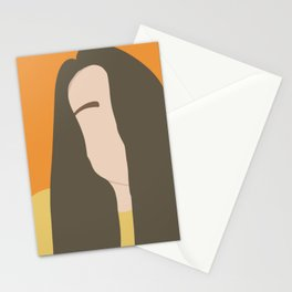 minimal female illustration Stationery Cards