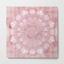 flower, seed of life, mandala, nature, energetic, romantic, psychedelic Metal Print