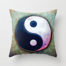Yin Yang - Scratchy Painting Design Throw Pillow