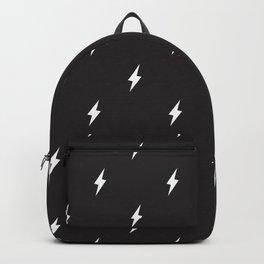Lightning Bolt Pattern Black & White Rucksack
