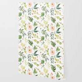 Botanical Spring Flowers Wallpaper