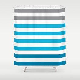Stripes Gradient - Blue Shower Curtain