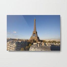 The Eiffel Tower, Paris, France. Metal Print