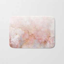Beautiful Pink and Gold Ombre marble under snow Bath Mat