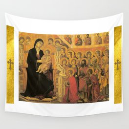 Saint Mary Religious Scene - Gothic Wall Tapestry