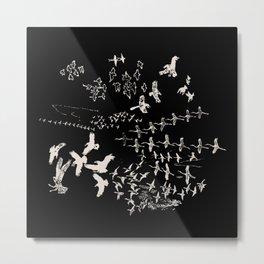 White Birds Metal Print