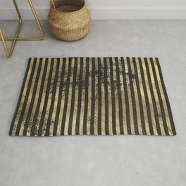 Beautiful Black And Gold  Pattern Rug