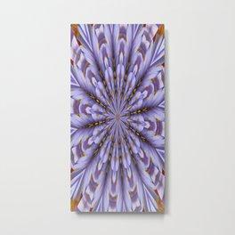 Lilac Kaleidoscope Metal Print