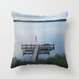 """Pier, Seneca Lake"" Photography Throw Pillow"