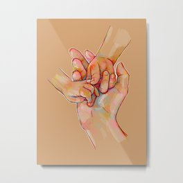 Illustration ; Hands Metal Print