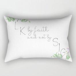 walk by faith Rectangular Pillow