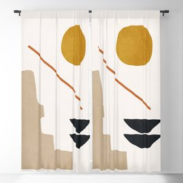 abstract minimal 6 Blackout Curtain