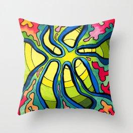 Solar Heart Throw Pillow
