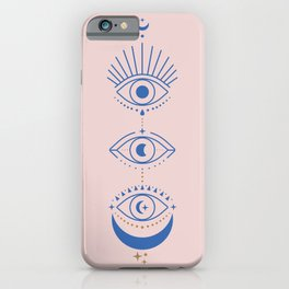 Eyes Moon Phases iPhone Case