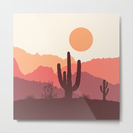 Mexican desert sunrise Metal Print