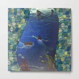 Tales of Mermaid Scales Metal Print