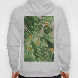 Bird of Paradise Jungle Leaves Dream #2 #tropical #decor #art #society6 Hoody