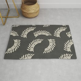 When the leaves become wings - Gray and beige Rug