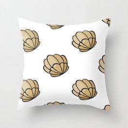 Seashells Pattern Throw Pillow