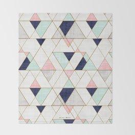 Mod Triangles - Navy Blush Mint Decke
