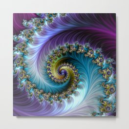 "SPIRAL "" BLISS "" Metal Print"