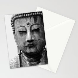 Buddha Statue, Buddha Photograph, Black and White Buddha Print Stationery Cards