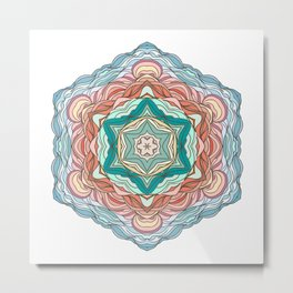 Colorful mandala Metal Print