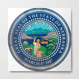 seal of the state of nebraska Metal Print