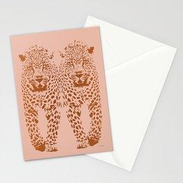Sunset Blvd Leopard - blush pink and coral original print by Kristen Baker Stationery Cards
