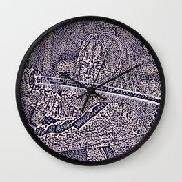 Kill bill Artistic Illustration Persian Texture Style Wall Clock